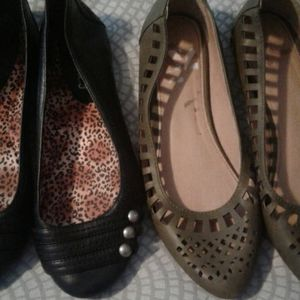 Candies Report Slip On Flats Shoe Lot Sz 6